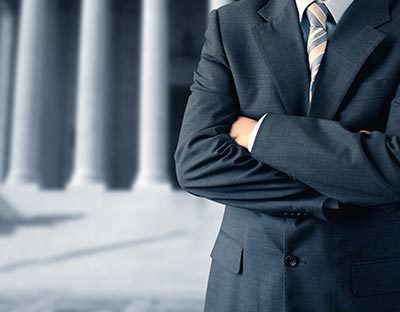 Lawyer standing in front of courthouse in Cincinnati