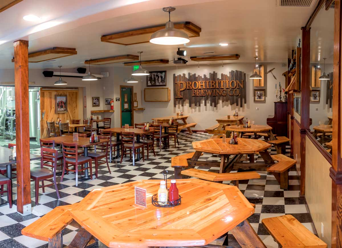 prohibition brewery dining room vista california