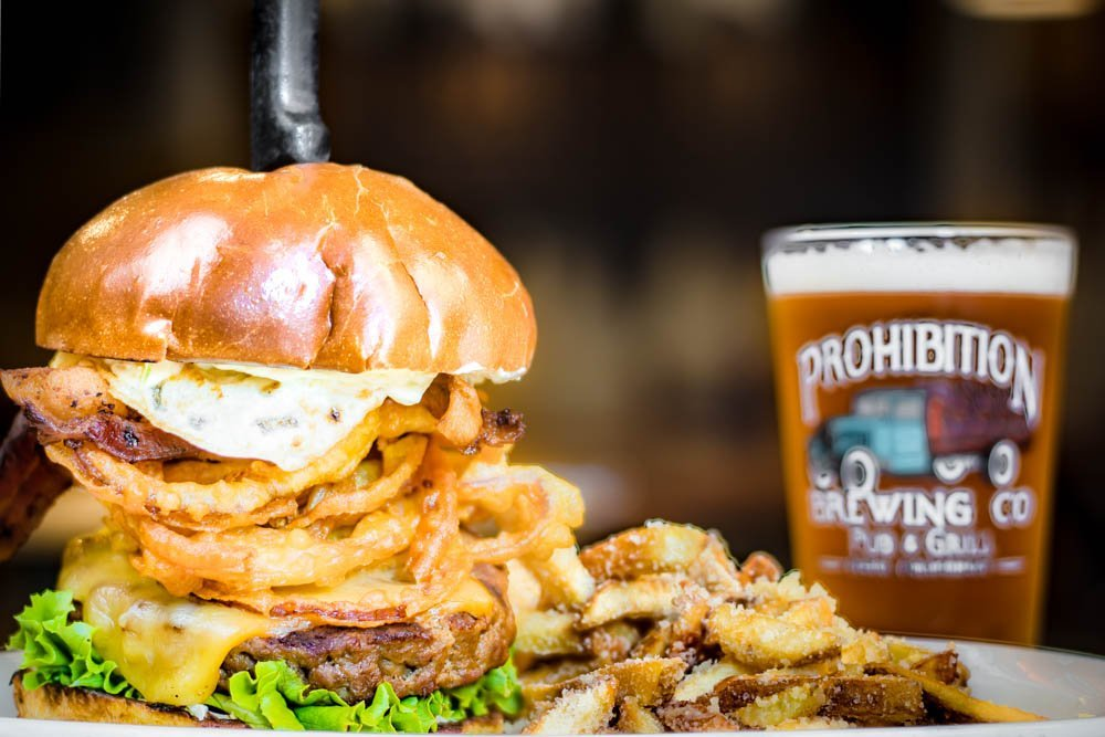 prohibition brewing signature burger