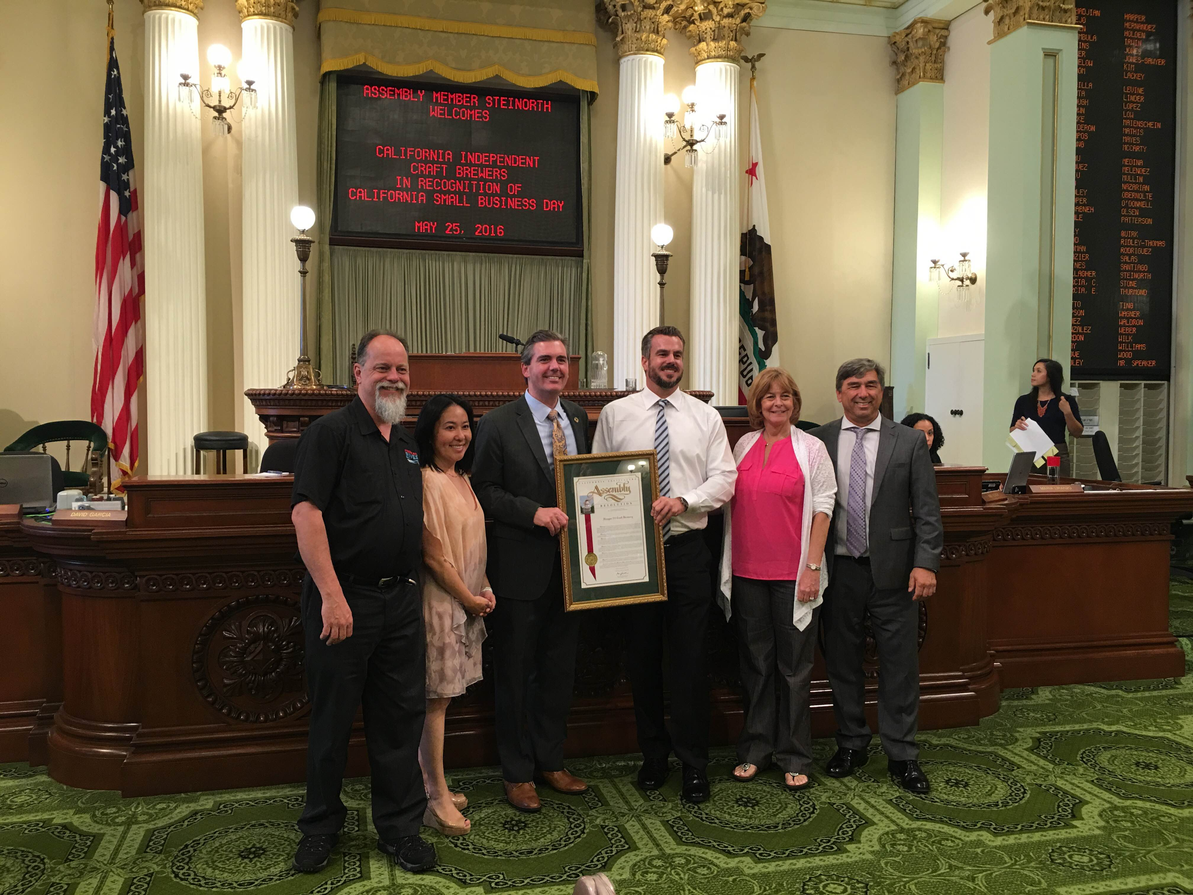 small business of the year 2016 vista ca prohibition adams