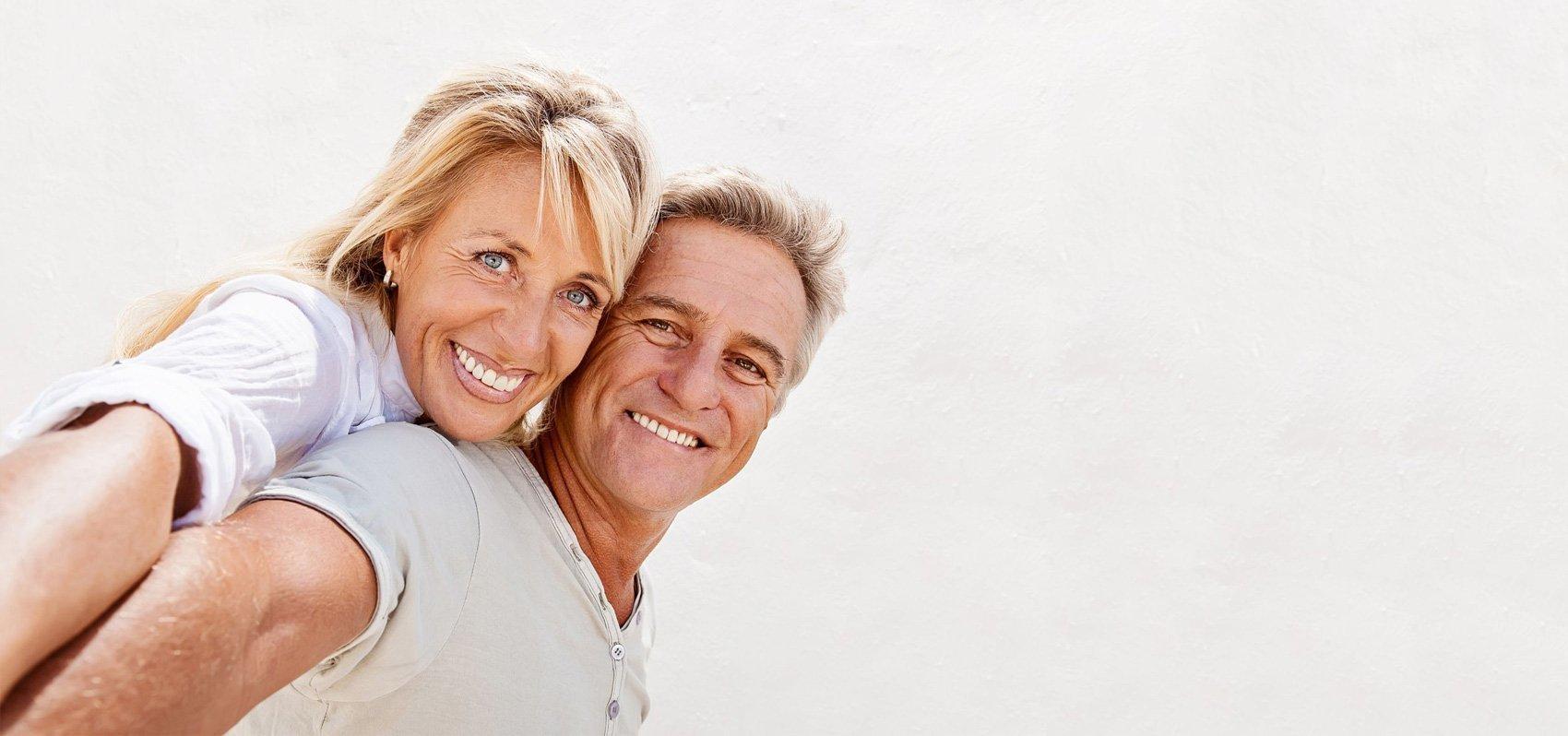 Smiling senior souple