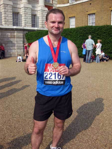 Fran Gallagher, London Marathon, 2011