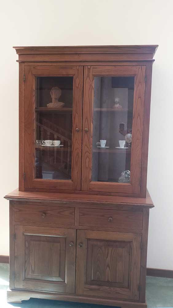 vetrinetta in legno massello