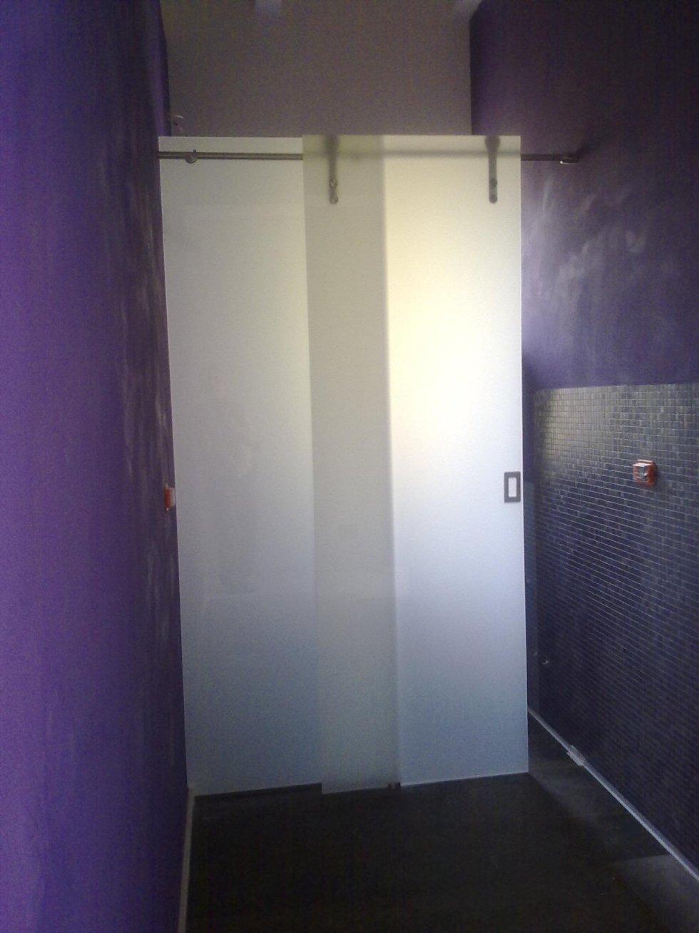 porta vetrata scorrevole doppia