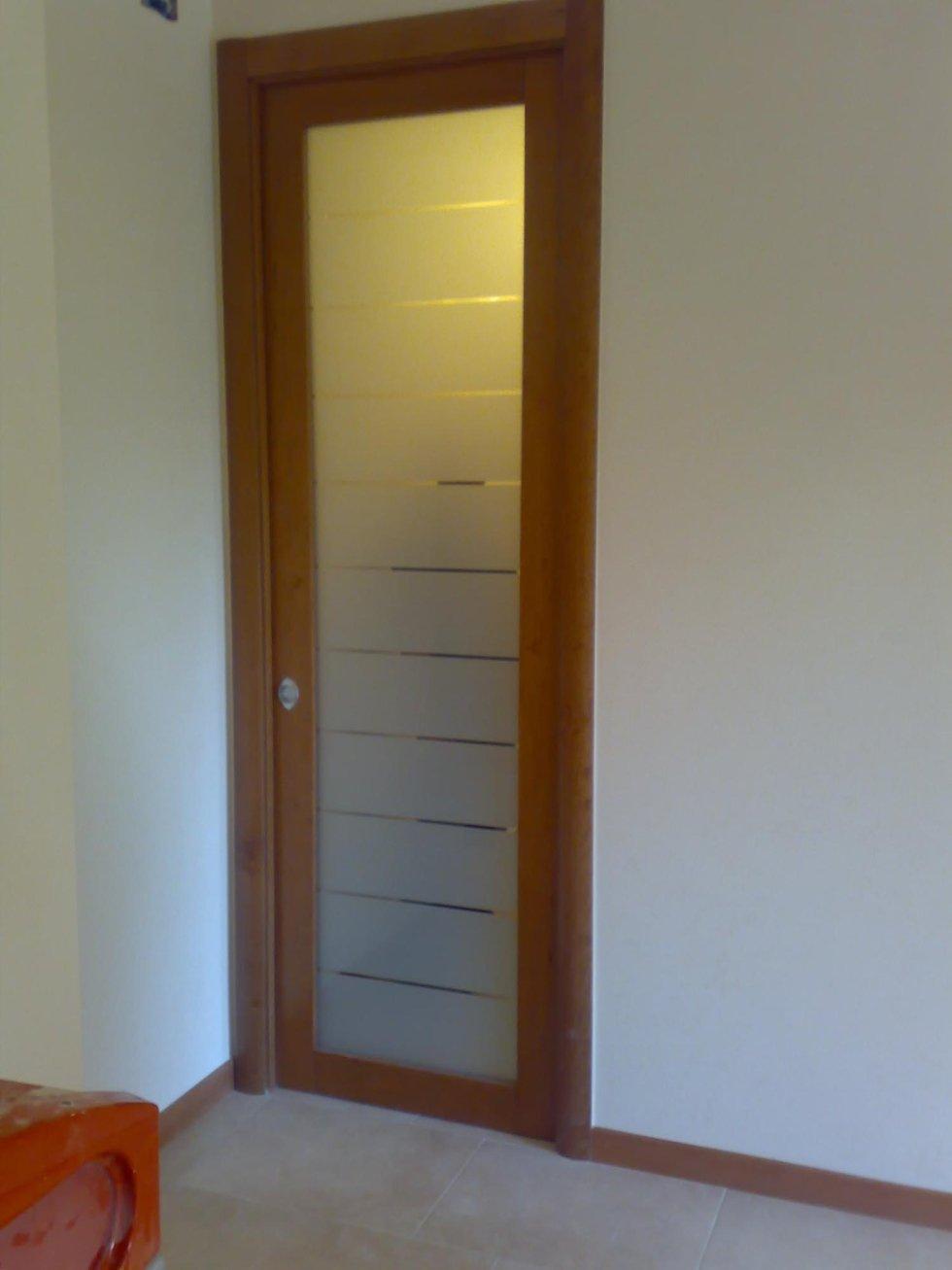 porte con vetri sabbiati per interni