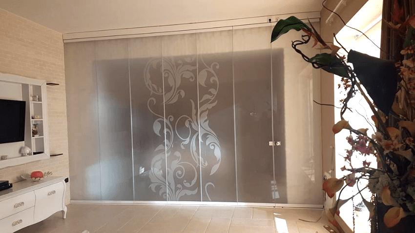 vetrata panoramica scorrevole