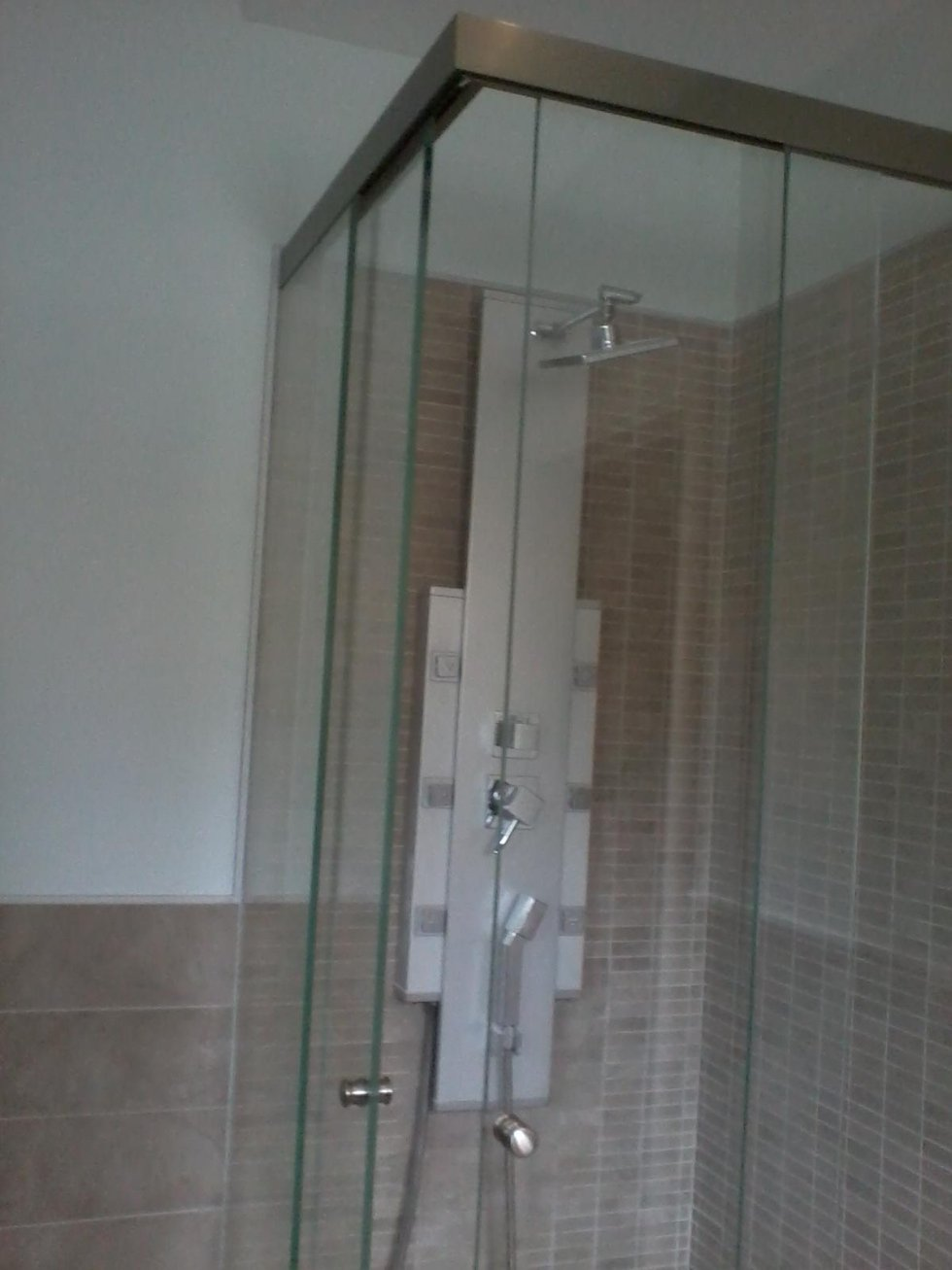 parete doccia in cristallo