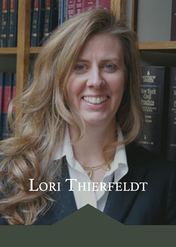 Lori L. Thierfeldt - Personal Injury Attorney in Chautauqua County, NY - Burgett & Robbins LLP