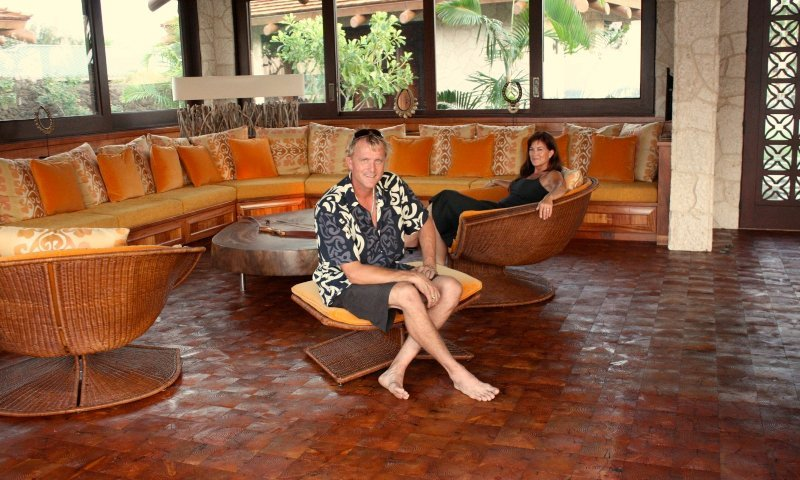 An example of wood flooring in Captain Cook, HI