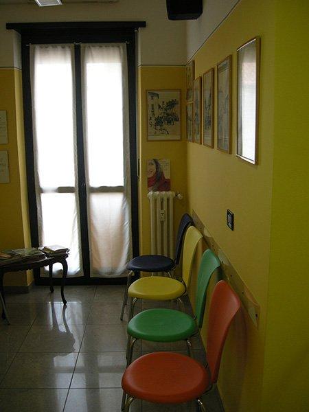 Un angolo della sala di attesa Studio odontoiatrico Lupano