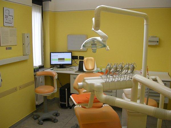 sala visite dello studio dentistico