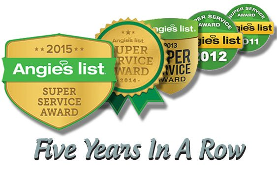 Angie's List - 5 Years in a row