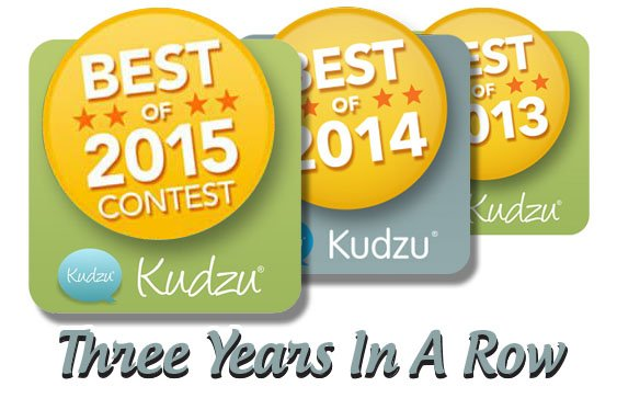 Kudzu Reviews - 3 Years in a row!