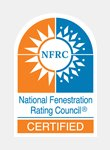 The National Fenestration Rating Council Certified
