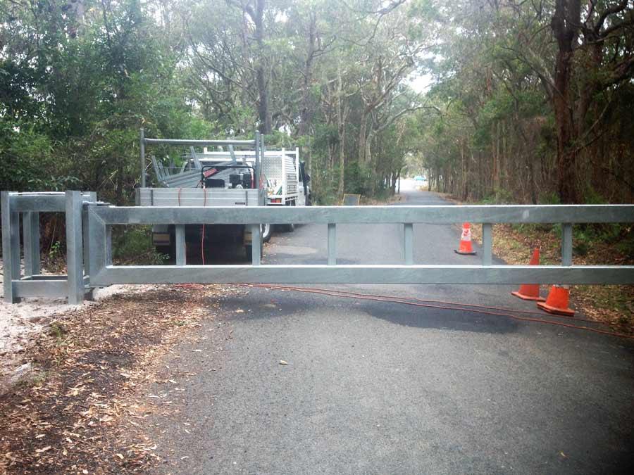 steel road gate