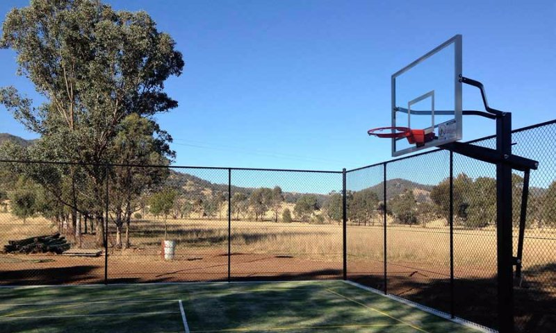 basketball court fencing
