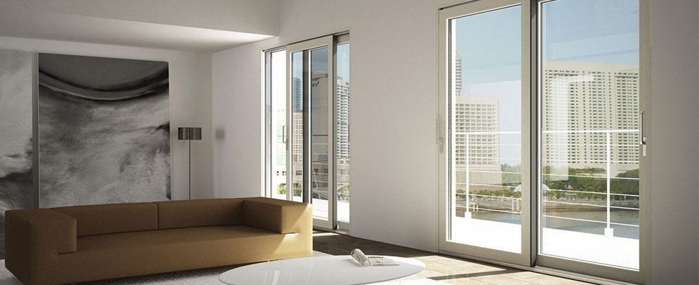 vetrata scorrevole in legno alluminio