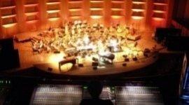 consolle luci e audio,  allestimento in teatro, concerto dal vivo