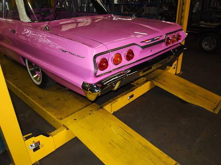 custom pink car
