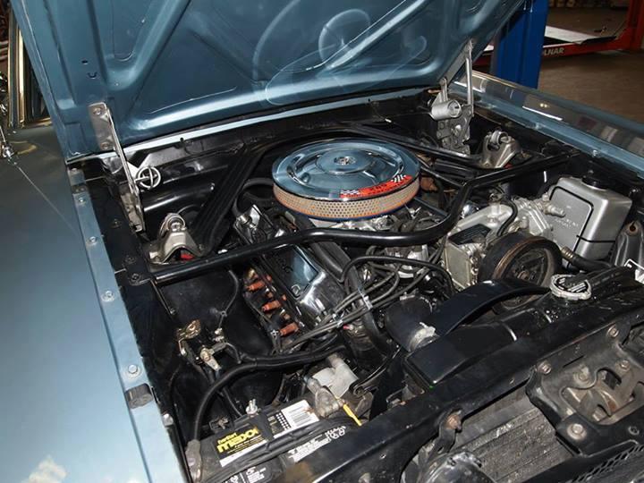 engine inside of car