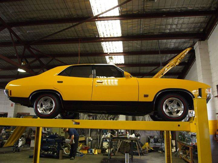 yellow car on ift