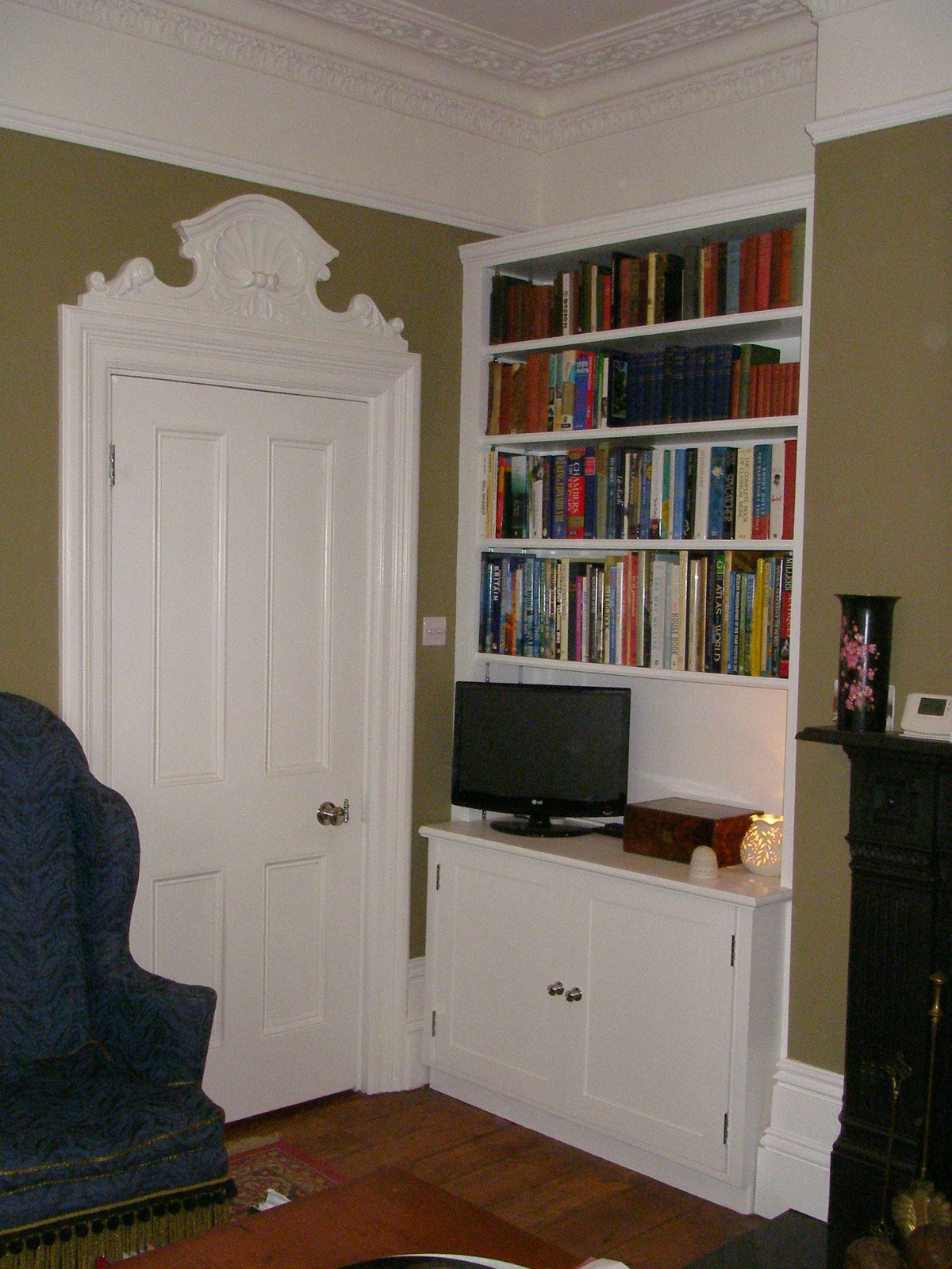 back side of white door