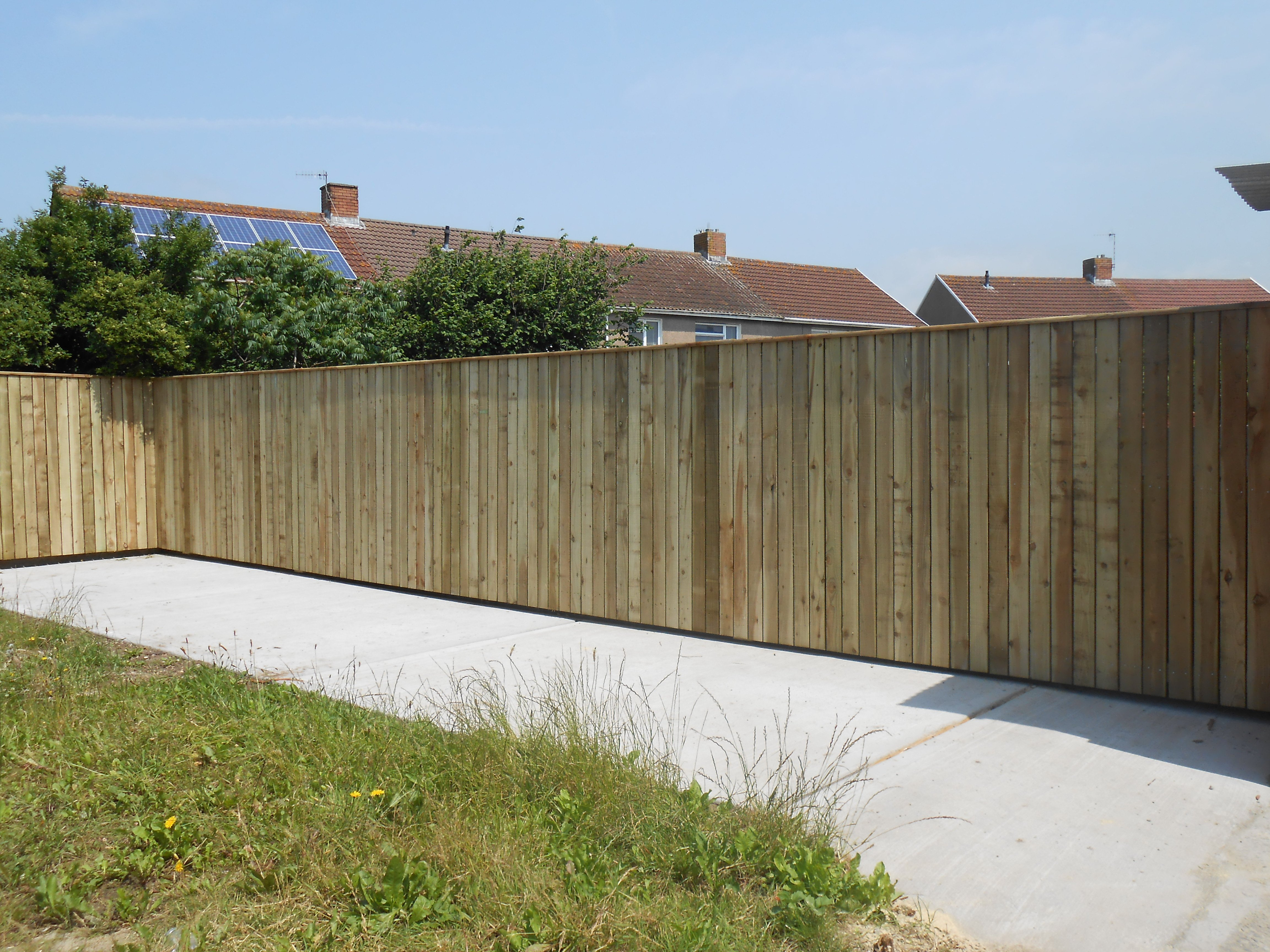 Wooden brown fence