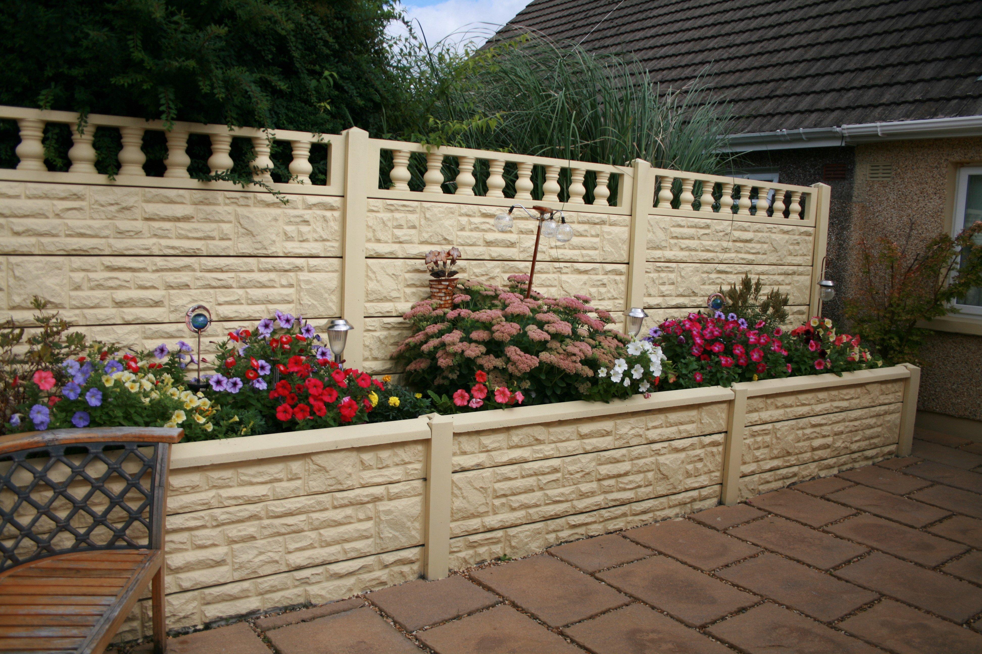 cream coloured fence