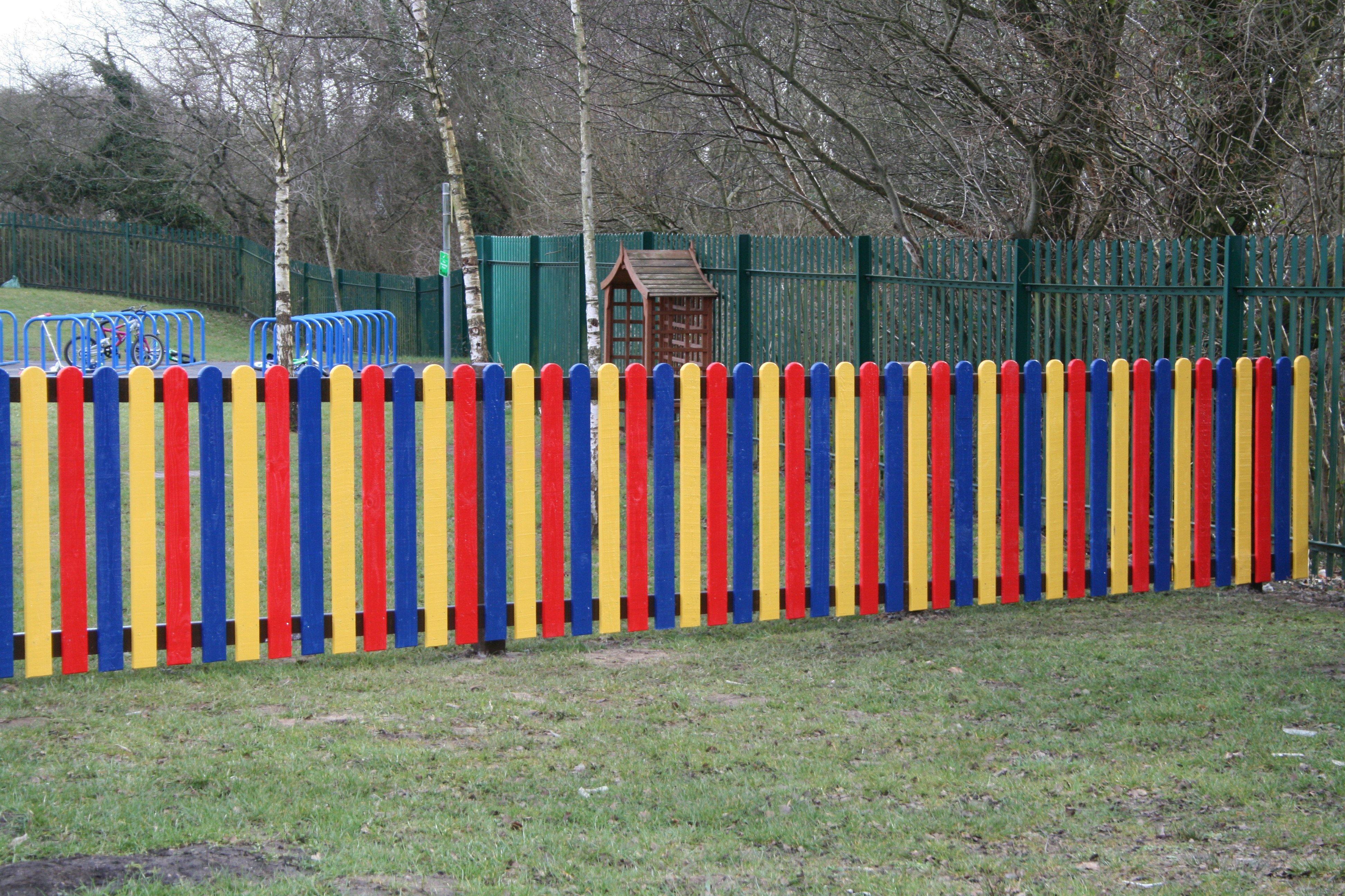 multi-coloured fence