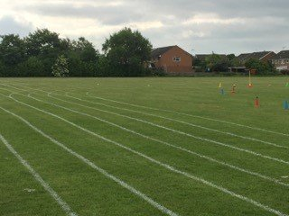 Track and field lawn