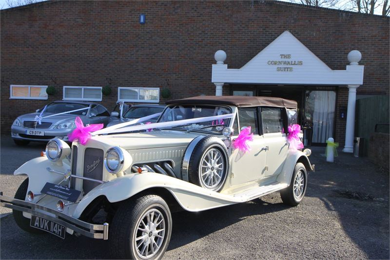 decorated vintage car