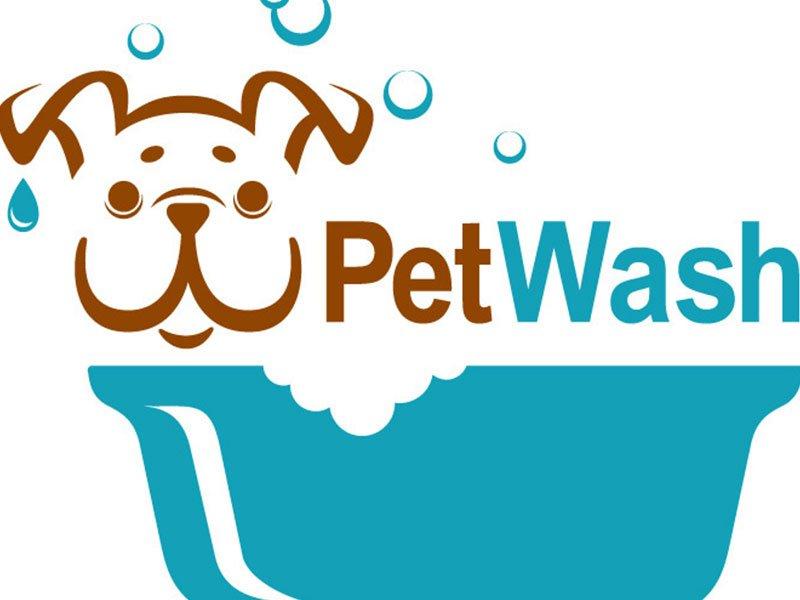 disegno di un cane che fa il bagno