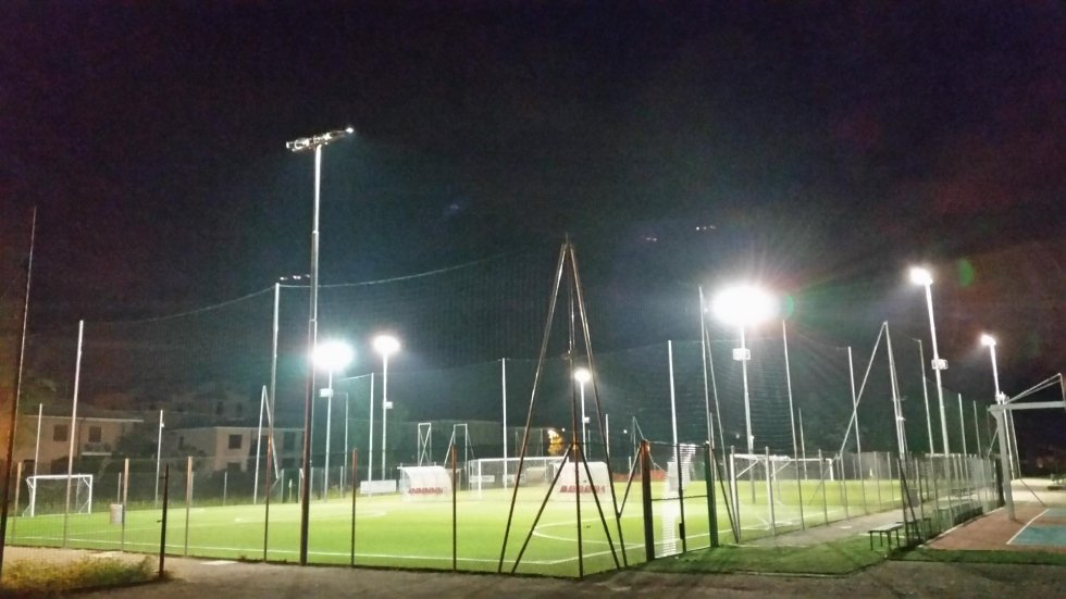 Lighting - AROSIO FOOTBALL PITCH - supply of light fixtures