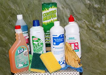 prodotti di pulizia per il bagno