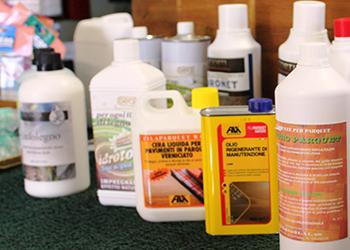 Prodotti per la pulizia ed il trattamento del parquet