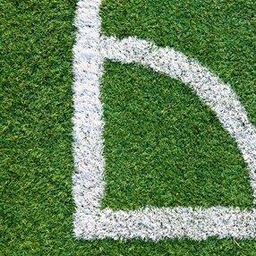 angolo di un campo da calcio
