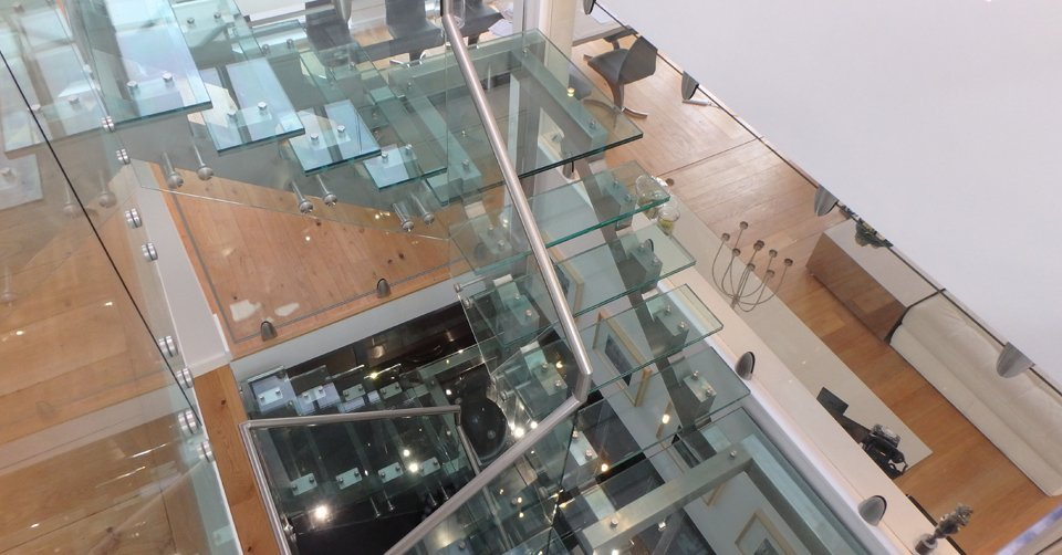 aerial view of the building interiors