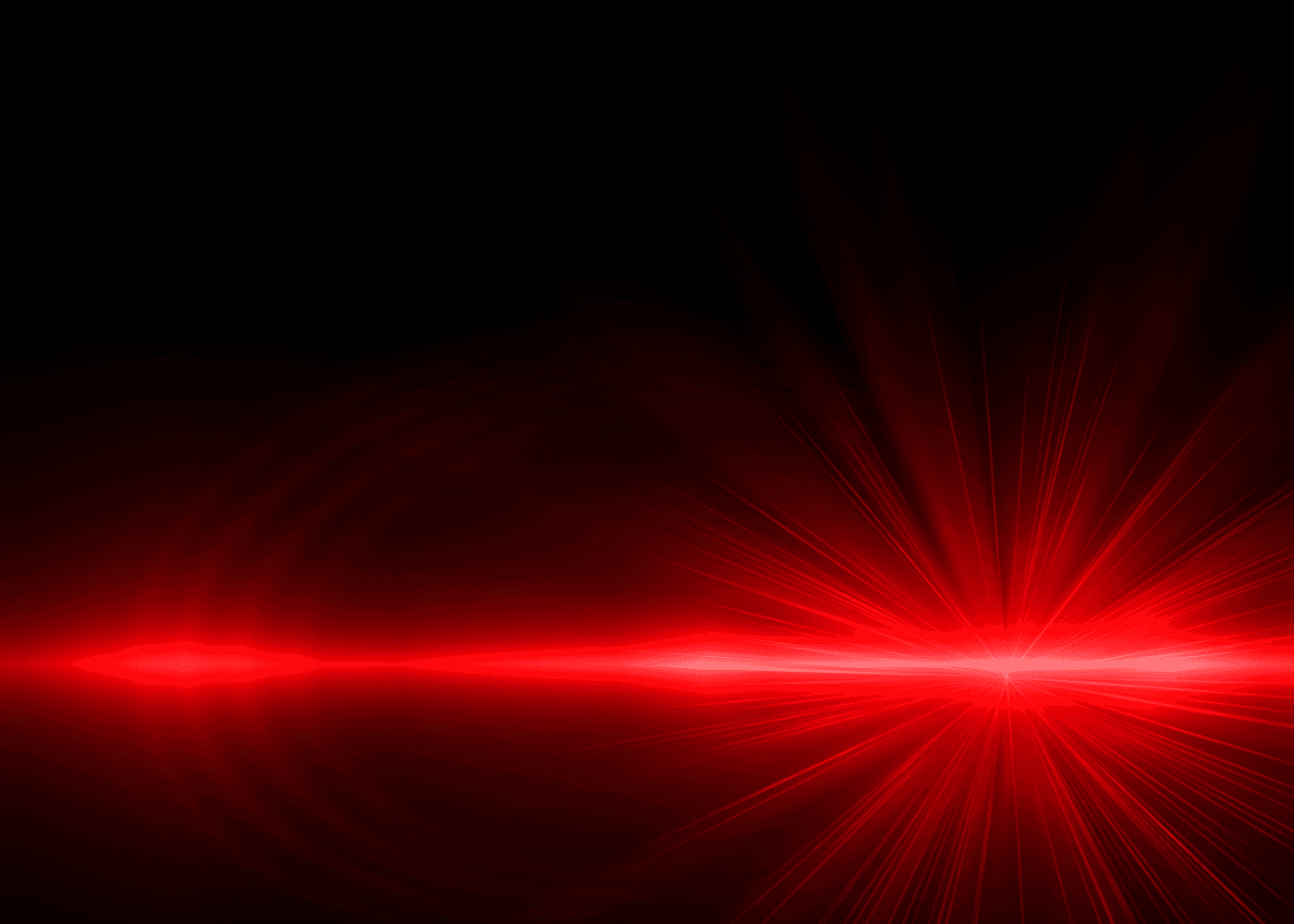 View of a red laser light
