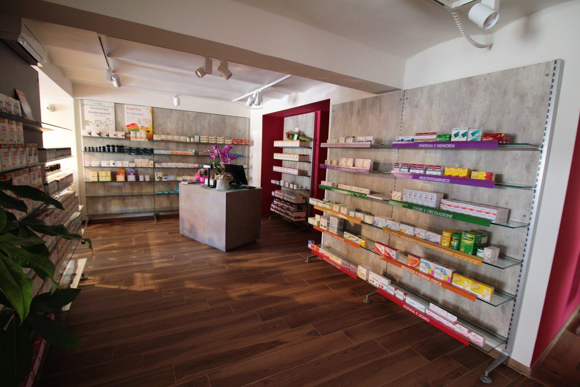 prodotti che si trovano dentro la farmacia