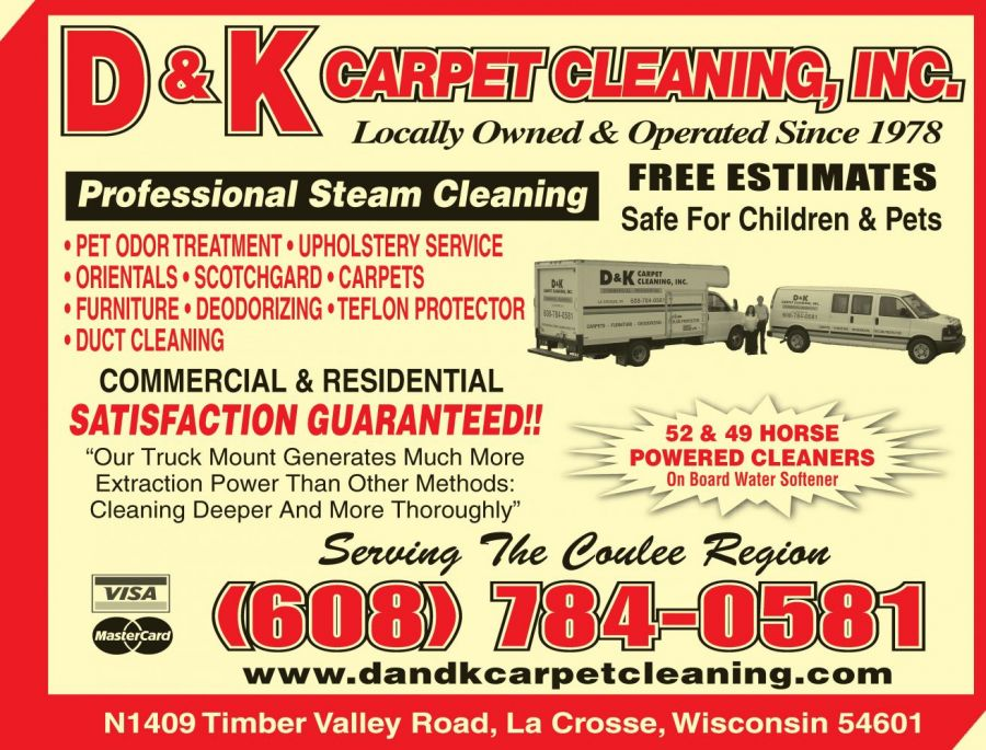 Family is happy after getting their carpet cleaned in La Crosse, WI