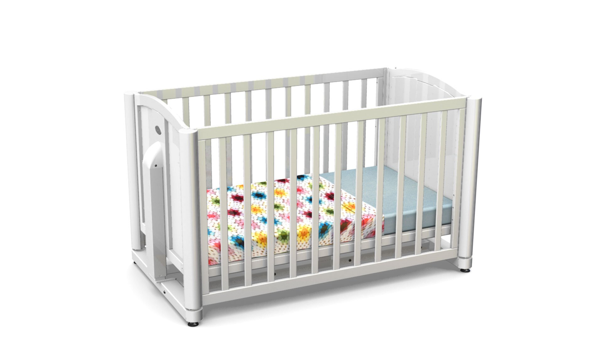 baby cot in white color