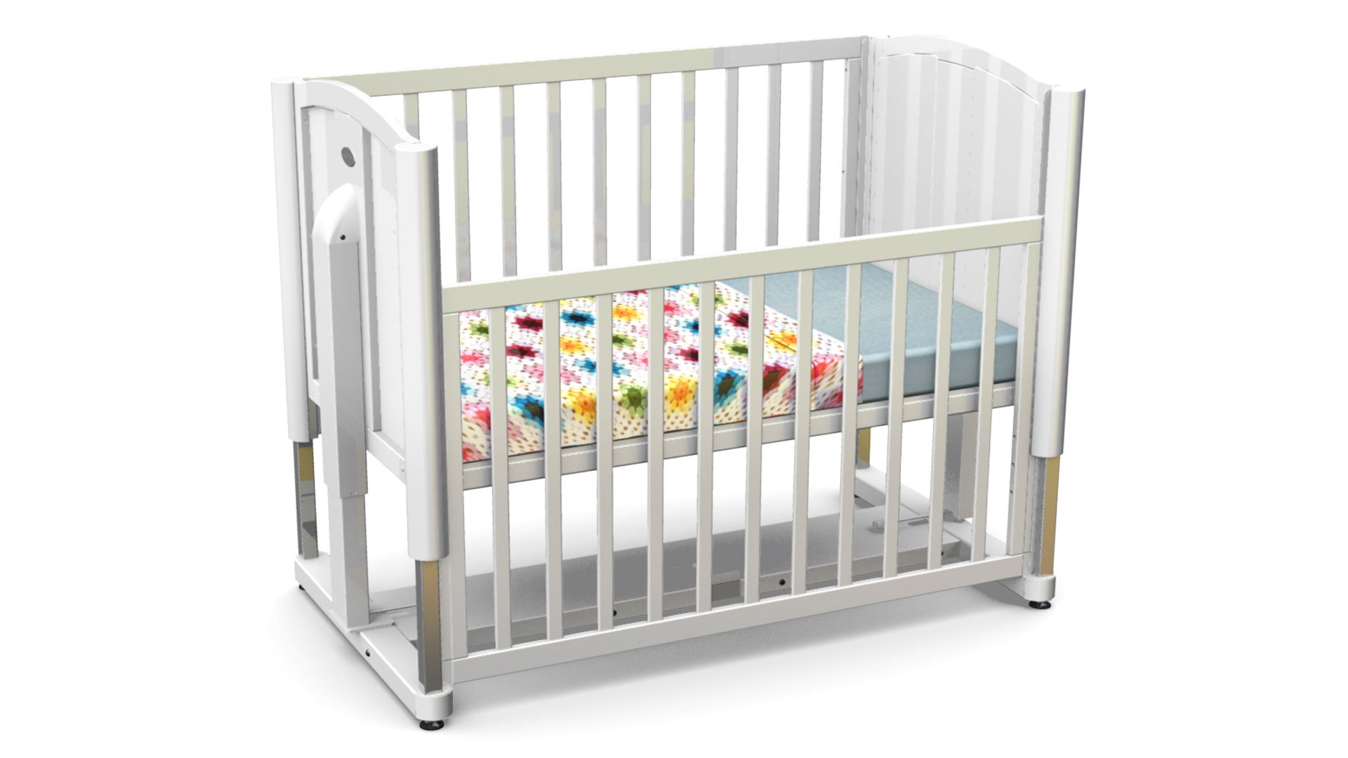 baby cot white color