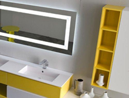 arredamento per il bagno color giallo