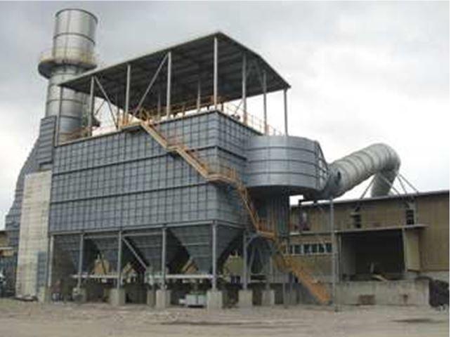 Realizzazione di impianto di aspirazione fumi con filtro e tubazione diam.3000. FORONI S.p.a. Varese