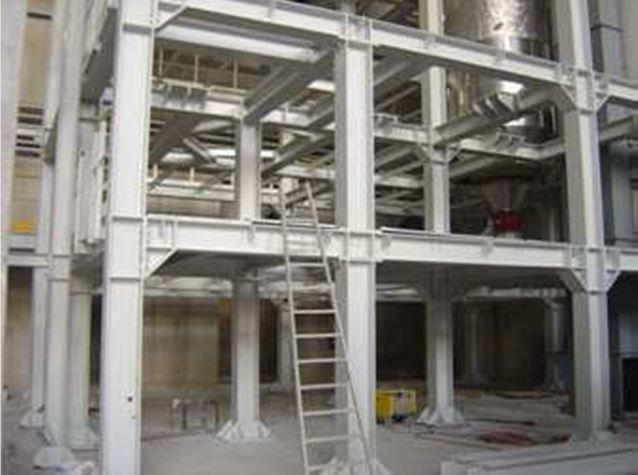 Strutture per impianto di produzione calce. LAGES Pisogne