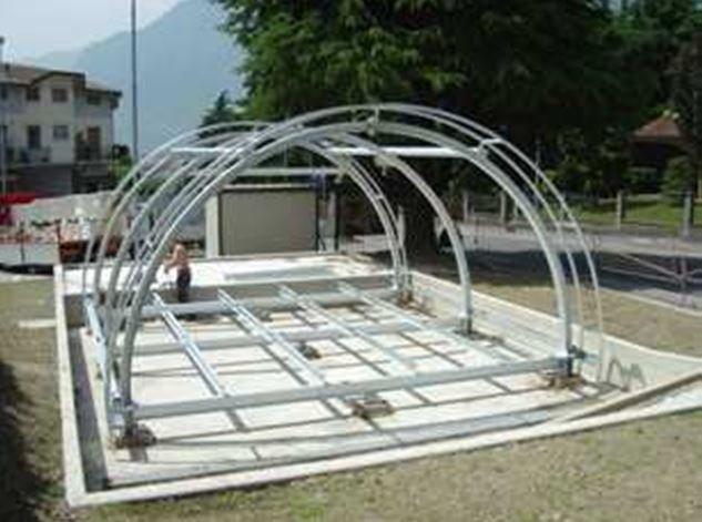 Struttura metallica zincata per la realizzazione di chiosco Bar presso il Comune di Piancamuno (BS)