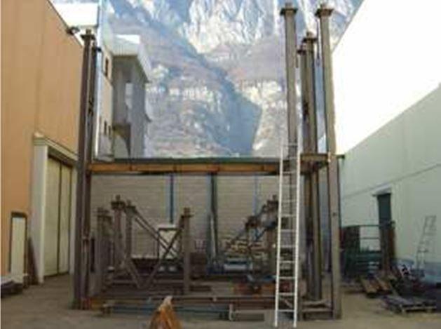 Premontaggio strutture metalliche eseguito presso la nostra sede