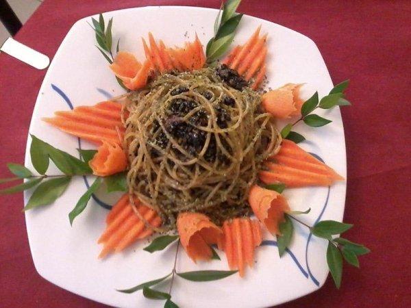 Spaghetti con il mirto