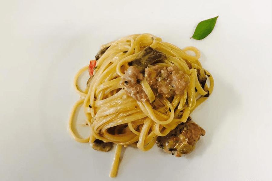 spaghetti al ragù di cinghiale