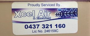 xcel air and electrical proudly serviced by xcel air and electrical banner